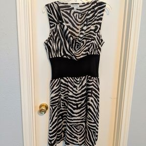 Calvin Klein Zebra Print Dress, size 12